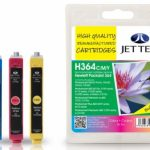 HP364 CMY Multipack Remanufactured Ink Cartridge by JetTec – H364CMY