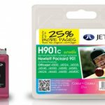 HP901 CC656A  Colour Remanufactured Ink Cartridge by JetTec – H901C