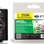 HP920XL CD975AE Black Remanufactured Ink Cartridge by JetTec – H920BXL