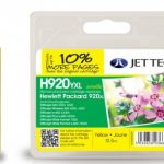 HP920XL CD974AE Yellow Remanufactured Ink Cartridge by JetTec – H920YXL