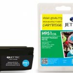 HP951XL Cyan Remanufactured Ink Cartridge by JetTec – H951CXL