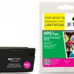 HP951XL Magenta Remanufactured Ink Cartridge by JetTec – H951MXL