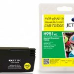 HP951XL Yellow Remanufactured Ink Cartridge by JetTec – H951YXL
