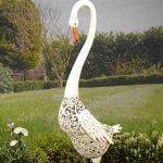 Smart Garden Solar Metal Novelty Swan Light, 80cm