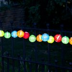 Smart Garden Multi Solar Chinese Lantern String Lights, White LED