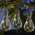 Smart Garden Solar Hanging Festoon Bulb with Wire Lights, 6 Pack