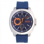 BOSS Orange Watches Mens Blue Dial Silicone Strap Watch