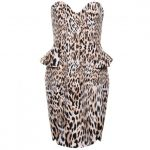Finders Keepers Womens Leopard Print Take A Shot Dress