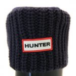 Hunter Womens Bright Navy Tall Half Cardy Stitch Wellington Socks