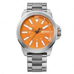 BOSS Orange Watches Mens Orange Dial New York Bracelet Strap Watch
