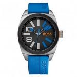 BOSS Orange Watches Mens Black Dial London XXL Silcone Strap Watch