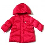 Armani Junior Baby Red Down Puffer Jacket