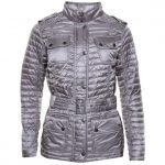 Barbour International Womens Opal Grey Leaf Spring Quilted Jacket