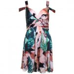 Forever Unique Womens Floral Printed Minnie Dress