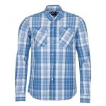 Barbour International Mens Bleach Wash Kelvin Check L/s Shirt