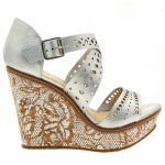 Moda In Pelle Womens Silver Quirino Wedges