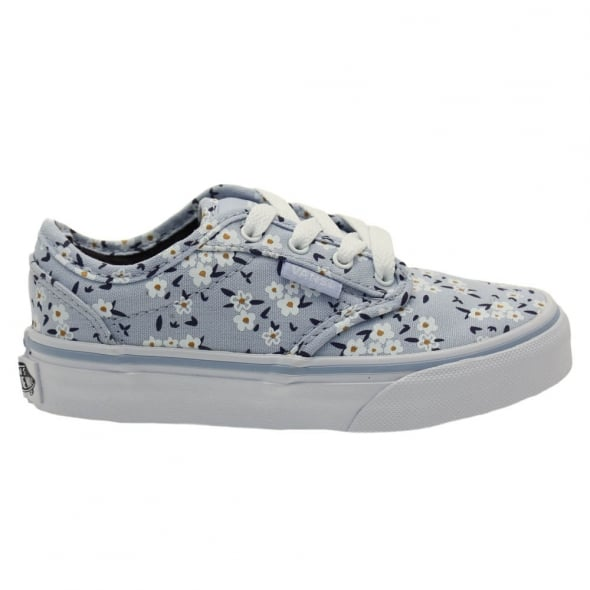 47f2e0fa68 Vans Youth Light Blue Atwood Flower Trainers (10-5)