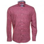 Jiggler Lord Berlue Mens Red Fergus L/s Shirt