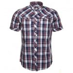 G Star Mens Milk & Blue Arc 3D Check S/s Shirt