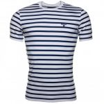 Barbour Lifestyle Mens Blue Greystead Striped S/s Tee Shirt