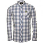 Lyle & Scott Mens Dusk Blue L/s Check Shirt