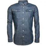 G Star Mens Rinsed 3301 Denim L/s Shirt