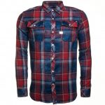 G Star Mens Indigo & Anticred Landoh Flannel Check L/s Shirt