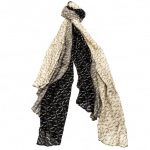 Armani Jeans Womens Black & Grey Multi Logo Scarf