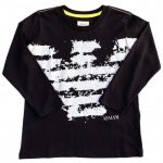 Armani Junior Boys Navy Large Eagle Logo L/s Tee Shirt