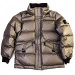 Stone Island Junior Boys Grey 40926 Ice Down Puffer Jacket (10yr+)
