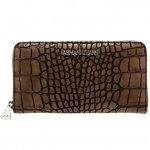 Armani Jeans Womens Brown Croc Effect Purse