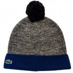 Lacoste Boys Light Grey Knitted Bobble Hat
