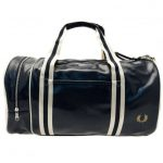 Fred Perry Mens Navy & Ecru Classic Barrel Bag