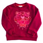 Kenzo Girls Pink Arine 1 Tiger Sweat Top