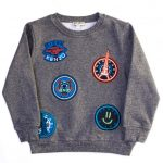 Kenzo Boys Twisted Grey Arnold Circles Sweat Top