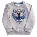 Kenzo Girls Marl Grey Arine 2 Tiger Sweat Top