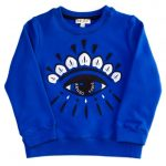 Kenzo Girls Electric Blue Alexandrie Eye Sweat Top