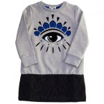Kenzo Girls Marl Grey Altesse Eye Dress
