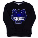Kenzo Girls Black Arwa 2 Tiger Sweat Top