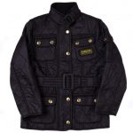 Barbour Girls Black International Quilted Jacket