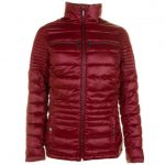 Barbour International Womens Deep Red Camber Baffle Quilted Jacket