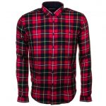 Barbour Heritage Mens Rich Red Sea Mill Check Slim Fit L/s Shirt
