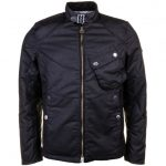 Barbour International Mens Black Legion Waxed Jacket