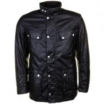 Barbour International Mens Black Duke Waxed Jacket
