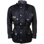 Barbour International Mens Black International Original Waxed Jacket
