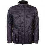Barbour International Mens Charcoal Ariel Polarquilt Jacket