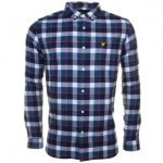 Lyle & Scott Mens Off White Check Flannel L/s Shirt