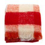 Maison Scotch Womens Red Check Scarf