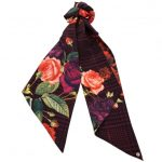 Ted Baker Womens Grape Jovanah Juxtapose Rose Skinny Scarf