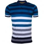 Paul & Shark Mens Blue Assorted Striped Shark Fit S/s Polo Shirt